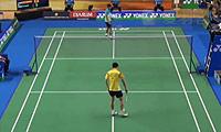 刘国伦VS普拉尼斯 2014印尼大师赛 男单1/4决赛视频