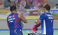 费尔纳迪/基多VS盖尔/苏卡穆约 2014印尼大师赛 男双决赛视频