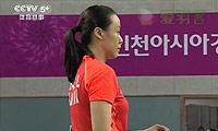 田卿/赵芸蕾VS金昭映/张艺娜 2014亚运会 女团女双决赛视频