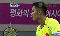 林丹VS李东根 2014亚运会 男团男单决赛视频