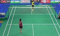 三谷美菜津VS韩利 2014丹麦公开赛 女单1/16决赛视频