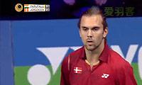 卡什亚普VS约根森 2014丹麦公开赛 男单1/4决赛视频