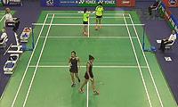 马晋/唐渊渟VS巴勒莫/安妮 2014法国公开赛 女双1/8决赛视频