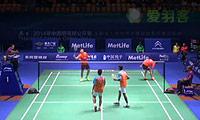 刘小龙/邱子瀚VS埃特里/雷迪 2014中国公开赛 男双1/16决赛视频