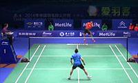 谌龙VS阮天明 2014中国公开赛 男单1/16决赛视频