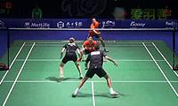 康骏/骆赢VS尼尔森/佩蒂森 2014中国公开赛 混双1/8决赛视频