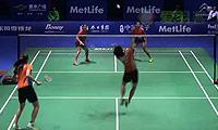 尼蒂娅/波莉VS普缇塔/沙西丽 2014中国公开赛 女双1/8决赛视频