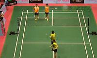 王荣/张之博VS伽芮恰伦/纳猜 2014澳门公开赛 女双1/16决赛视频