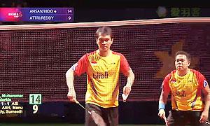 阿山/基多VS雷迪/埃特里 2014亚通杯 男双资格赛视频