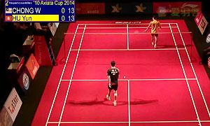 张维峰VS胡赟 2014亚通杯 男单资格赛视频