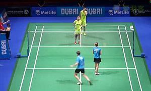张楠/赵芸蕾VS福克斯/迈克斯 2014世界羽联总决赛 混双资格赛视频