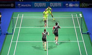 张楠/赵芸蕾VS高成炫/金荷娜 2014世界羽联总决赛 混双资格赛视频
