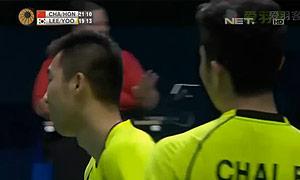 李龙大/柳延星VS柴飚/洪炜 2014世界羽联总决赛 男双决赛视频