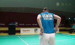 吉尔莫VS内德尔奇娃 2015瑞典大师赛 女单1/4决赛视频