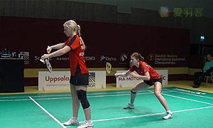 巴宁/塔博林VS莉娜/赫斯波 2015瑞典大师赛 女双1/4决赛视频