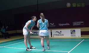 布朗/罗伯特肖VS巴宁/塔博林 2015瑞典大师赛 女双半决赛视频