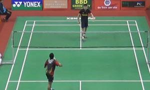 斯里坎特VS陈健铭 2015印度黄金赛 男单1/16决赛视频