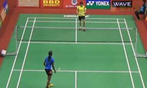 辛德胡VS陈嘉园 2015印度黄金赛 女单1/8决赛视频