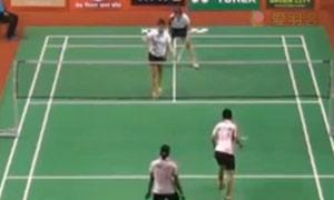 古塔/蓬纳帕VS梅汉娜/马尼莎 2015印度黄金赛 女双1/8决赛视频