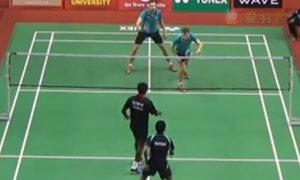 伊万诺夫/索松诺夫VS戈皮/夏尔马 2015印度黄金赛 男双1/8决赛视频