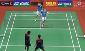 鲍伊/摩根森VS乔治/巴布 2015印度黄金赛 男双1/4决赛视频