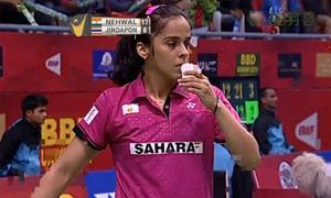 内维尔VS妮查恩 2015印度黄金赛 女单半决赛视频