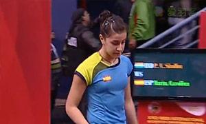 马琳VS辛德胡 2015印度黄金赛 女单半决赛视频