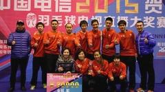 2015贺岁杯羽毛球赛昨天结束 广西昊海极限夺冠