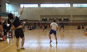 【低视角】2014年韩国男双业余表演赛