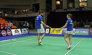 拉巴尔/拉菲尔(法国)VS伊美利/诺德(瑞典) 2015欧洲团体锦标赛 混双资格赛视频