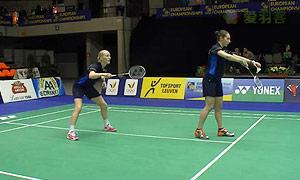 格里斯威斯基/尼尔特(德国)VS班克尔/吉尔莫(英格兰) 2015欧洲团体锦标赛 女双资格赛视频