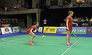 奥利弗/L.史密斯(英格兰)VS安妮斯/弗洛拉(比利时) 2015欧洲团体锦标赛 女双资格赛视频