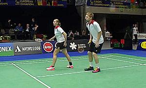 爱德考克/加布里(英格兰)VS安妮斯/弗洛里斯(比利时) 2015欧洲团体锦标赛 混双资格赛视频