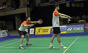 M·埃利斯/兰格瑞奇(英格兰)VS阿伦茨/马斯(荷兰) 2015欧洲团体锦标赛 男双1/4决赛视频