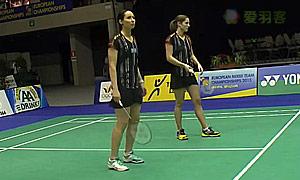 格里斯威斯基/尼尔特(德国)VS德尔菲娜/拉菲尔(法国) 2015欧洲团体锦标赛 女双1/4决赛视频