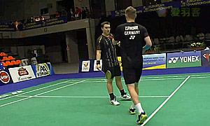 麦克斯/兹沃涅(德国)VS卡雷姆/拉巴尔(法国) 2015欧洲团体锦标赛 男双1/4决赛视频
