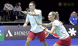 科塞兹卡娅/索松诺夫(俄罗斯)VS爱德考克/加布里(英格兰) 2014世界羽联总决赛 混双半决赛视频