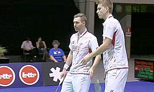福克斯/麦克斯(德国VS彼德森/科丁(丹麦) 2015欧洲团体锦标赛 男双半决赛视频