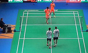 傅海峰/张楠VS诺丁汉/哈雷托勒 2015全英公开赛 男双1/16决赛视频