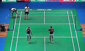 陈祉嘉/谢影雪VS穆斯肯斯/皮克 2015全英公开赛 女双1/16决赛视频