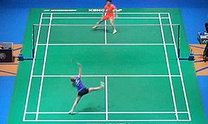 施纳泽VS刘鑫 2015全英公开赛 女单1/16决赛视频