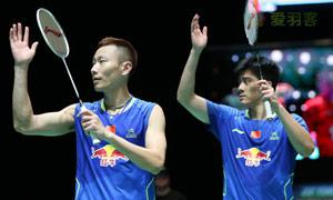 张楠/傅海峰VS彼德森/科丁 2015全英公开赛 男双半决赛视频