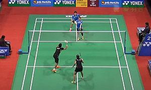 金德映/柳海媛VS迪瓦卡/加德雷 2015印度公开赛 女双1/16决赛视频