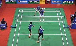 鲍伊/摩根森VS拉玛钱德朗/舒克拉 2015印度公开赛 男双1/16决赛视频