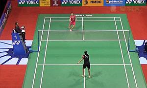 因达农VS菲尔达萨里 2015印度公开赛 女单1/8决赛视频