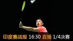 印度赛:林丹携手薛松进8强 王睁茗出局姚雪奏凯