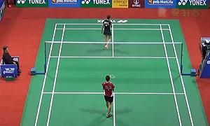 马琳VS许雅晴 2015印度公开赛 女单1/8决赛视频