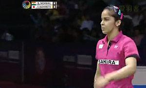 内维尔VS桥本由衣 2015印度公开赛 女单半决赛视频