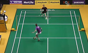 胡赟VS阿萨尔森 2015马来公开赛 男单1/16决赛视频