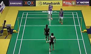 许嘉雯/温可微VS普缇塔/沙西丽 2015马来公开赛 女双1/16决赛视频
